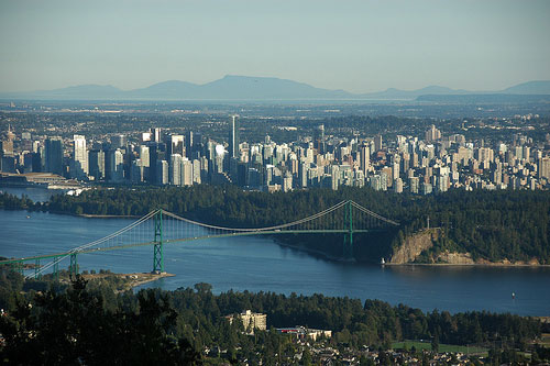 View from Grouse Mountain, Vancouver, BC